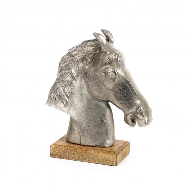 Pferdekopf Luccente Holz-Alu 33x18x11 cm