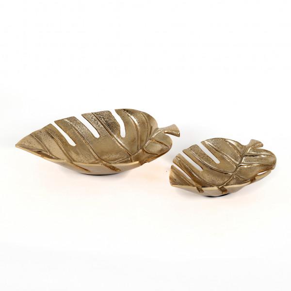 Blattschale Sanaá Aluminium, gold