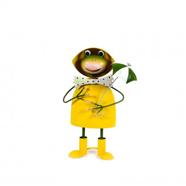 Frosch Sylt Metall, gelb-grün, 20,5x12x36 cm