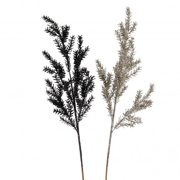 Asparaguszweig, beglittert, 84 cm