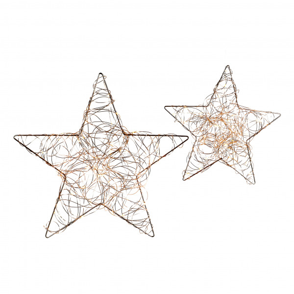 Stern Curly Star Metall, rosegold