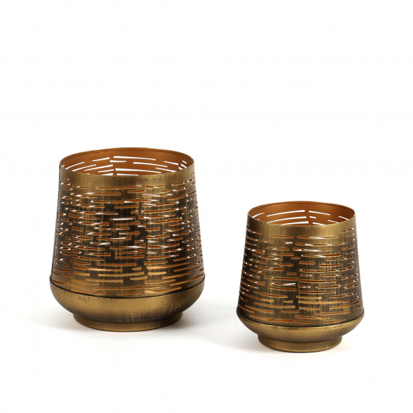 Windlicht Askim Metall, gold-antik, 12 cm