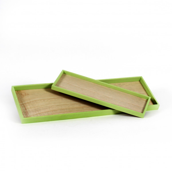 Holz-Tablett fresh schmaler Rand