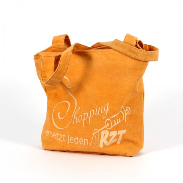 Handtasche bis der Arzt kommt, Canvas, apricot 40x8x35