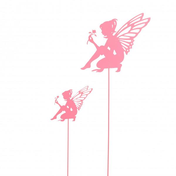 Elfe am Stab Eriol Metall, rose