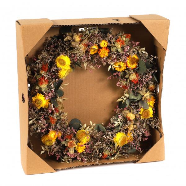Trockenblumenkranz 38 cm Hylicrisum natural