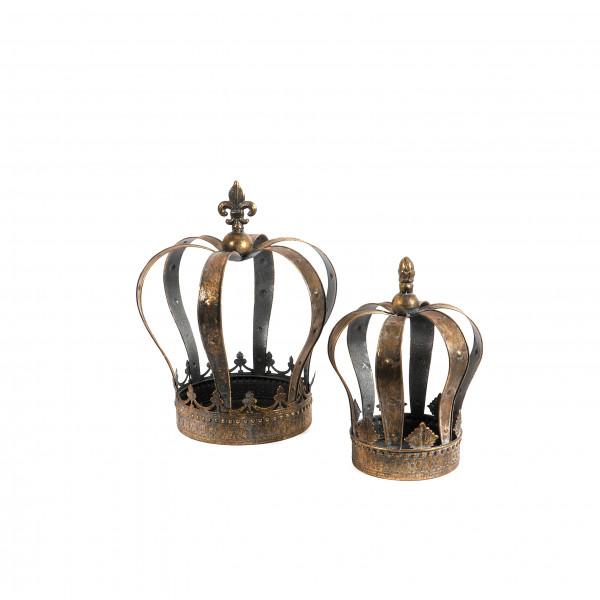 Metall Krone antik gold