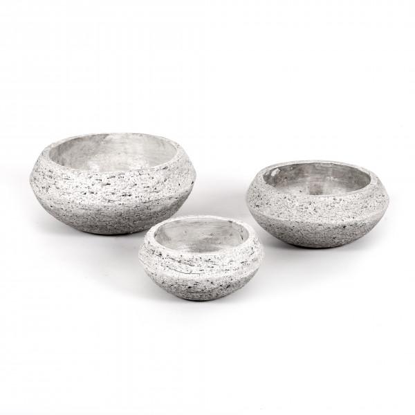 Keramik Pflanz-Schale Rustiko rund