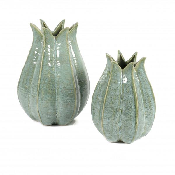 Keramik Vase Lena , mit Sternförmiger Öffnung