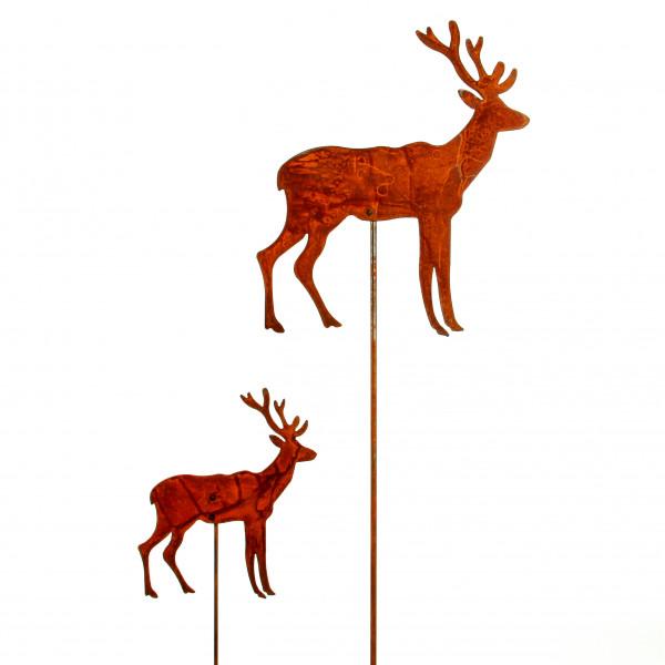 Stecker Hirsch Metall,rost