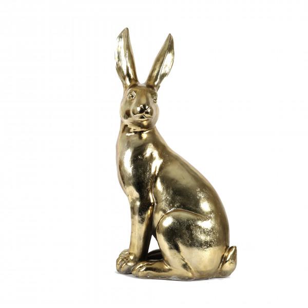 Poly Deko Hase Monsieur Lapins gold 43x26xh80cm