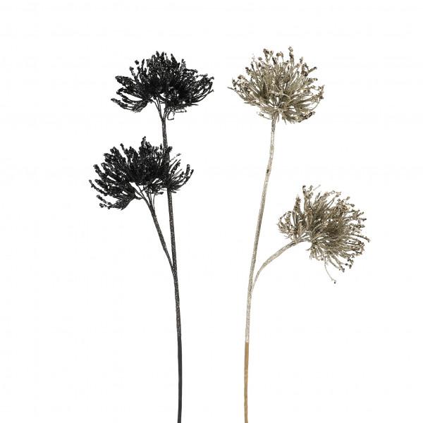 Allium x 2, groß, 70 cm, beglittert