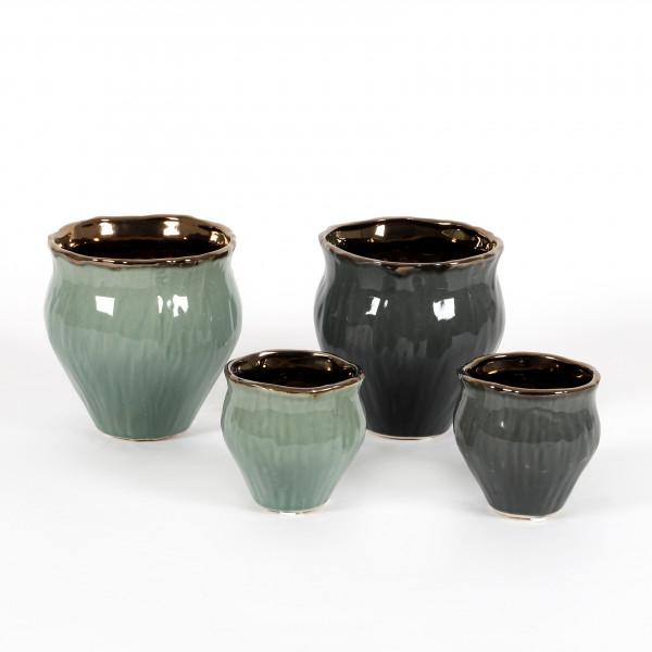 Keramik-Topf Alea geschwungen