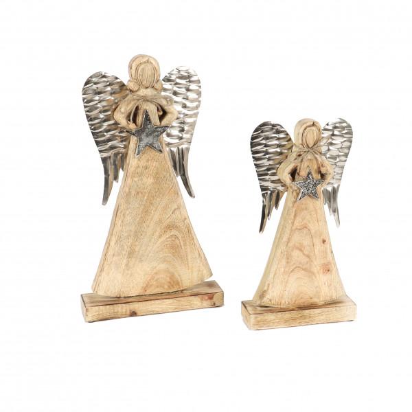 Engel Priya , Holz/Metall, mit Stern