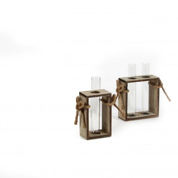 Holz-Tray,mit Jutekordel für