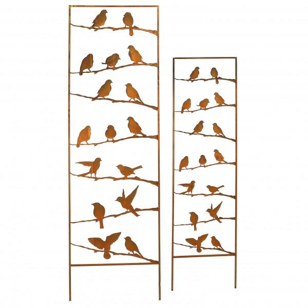 Metallaufsteller Vogelparadies