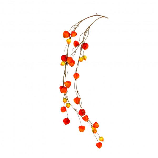 Physalisgirlande, 122 cm, rot- orange