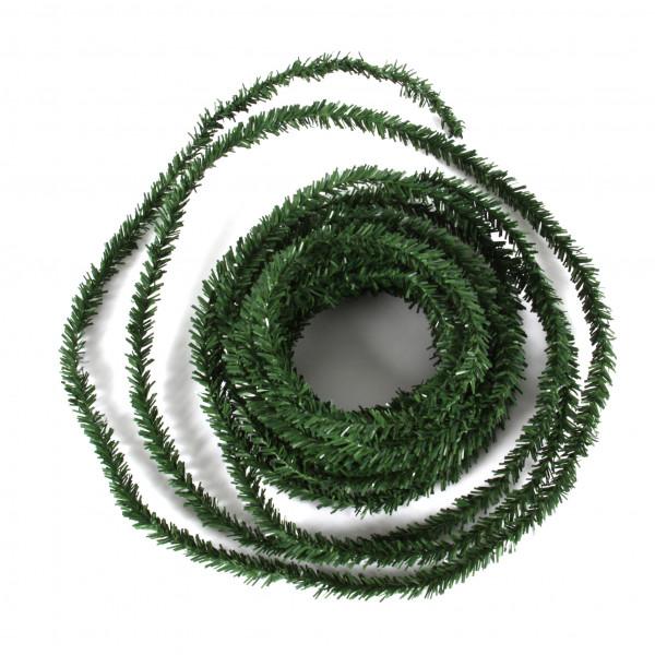 Tannengirlande, PVC, schmal, 2cm x 10 mtr.,grün