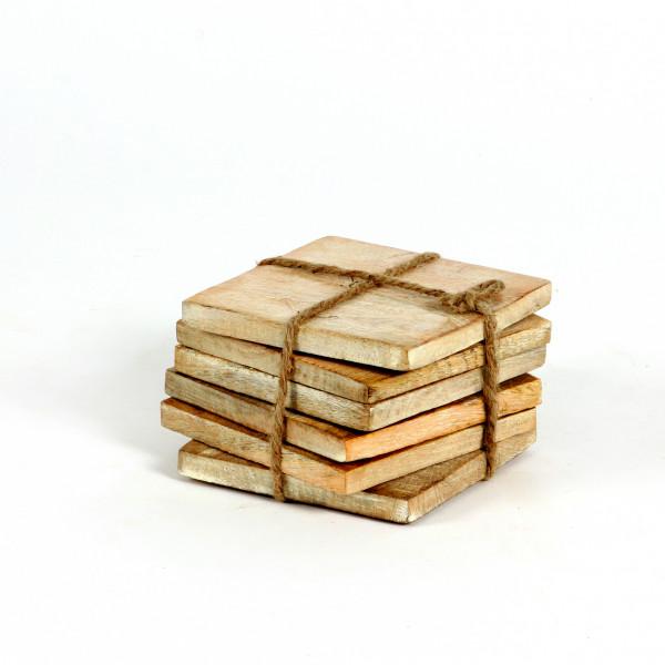 Holzunterlage quadratisch,10x1 0 cm VE=6Stück