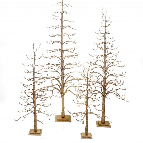 LED Glitterbaum Aurorum gold glitter