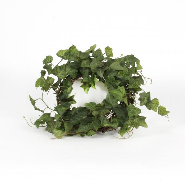 Efeukranz auf Weide, 30 cm, grün