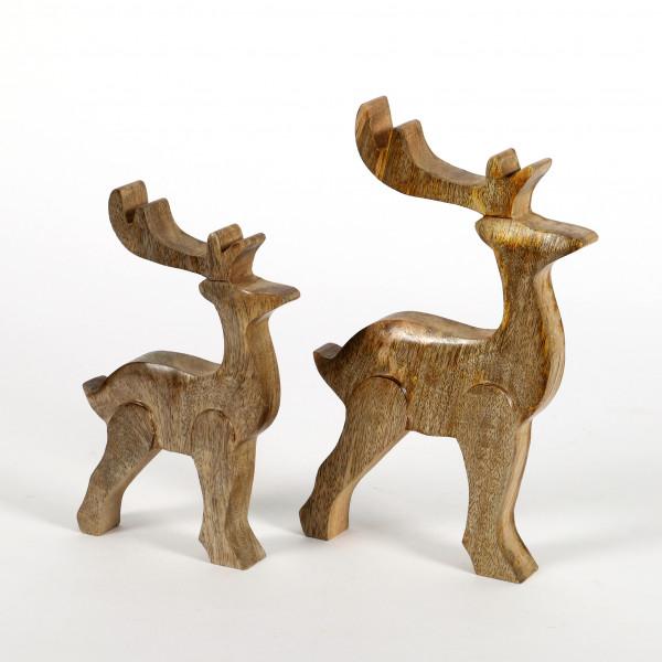 Hirsch Tolosa Holz natur