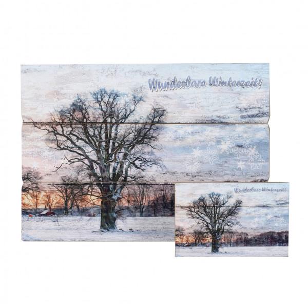 Wandbild Winterzeit MDF
