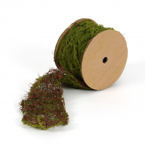 Moosband auf Rolle, 2 mtr x 7,5cm, grün