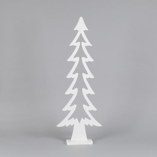 Baum, Holz, offen, schlanke Form weiß, 80x29x7 cm