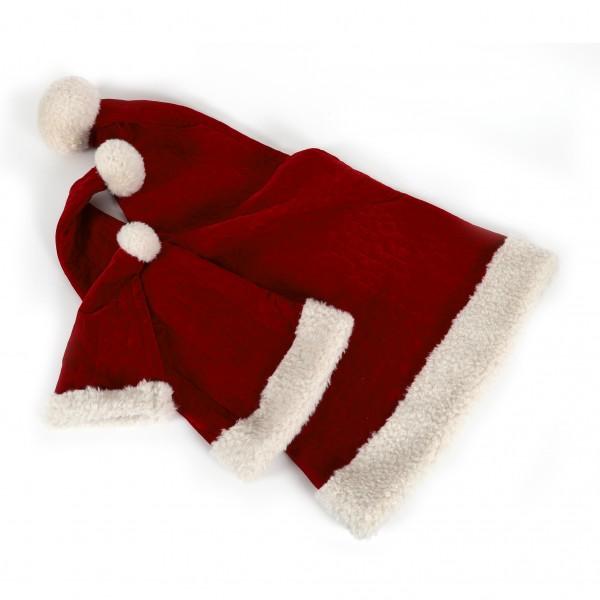 Weihnachtsmütze, Textil rot
