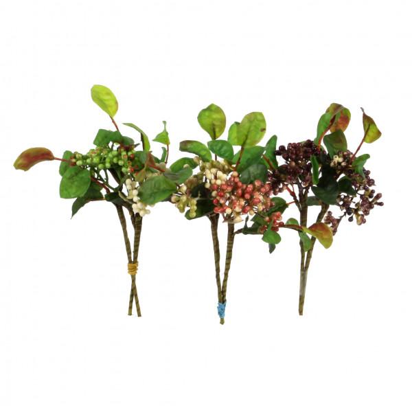 Beerenpick mit Laub, 25 cm
