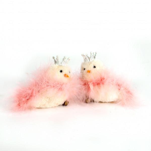 Vogel Felpa Kunststoff sitzend, 12x5x9,5 cm, 2 Modell