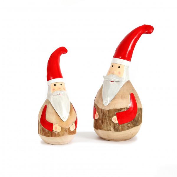 Santa, Holz Metall