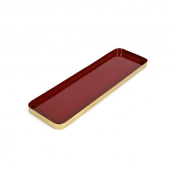 Tray Eleusis Metall,Rot-Messing, 50x15x2,5 cm