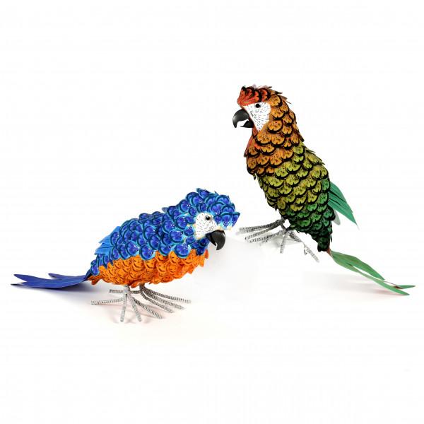 Papagai, Kunststoff, mehrfarbig ca. 40 cm