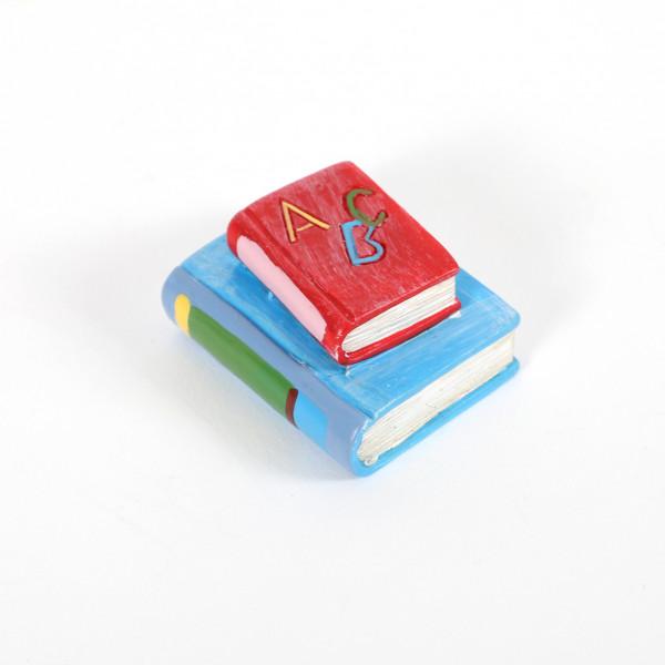 Bücher rot/hellblau 4cm