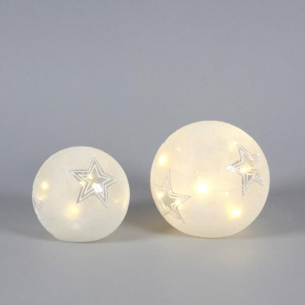 Dekokugel Star Glas mit LED,z. stellen