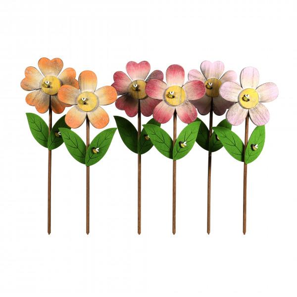 Stecker Blume Holz, 2 Mod. 15x43 cm
