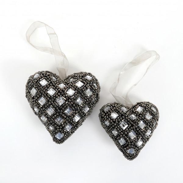 Herz,Schmuckstein mit Perlen zum hängen