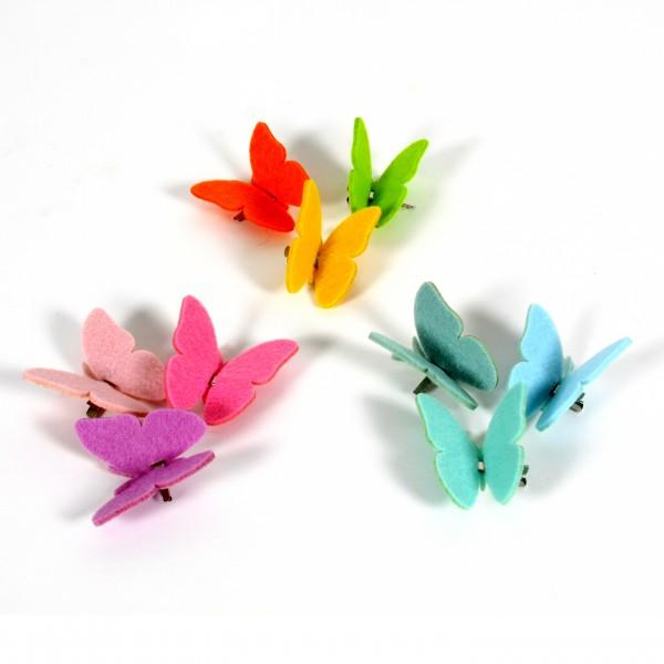 Filz Schmetterlinge a. Clip, B