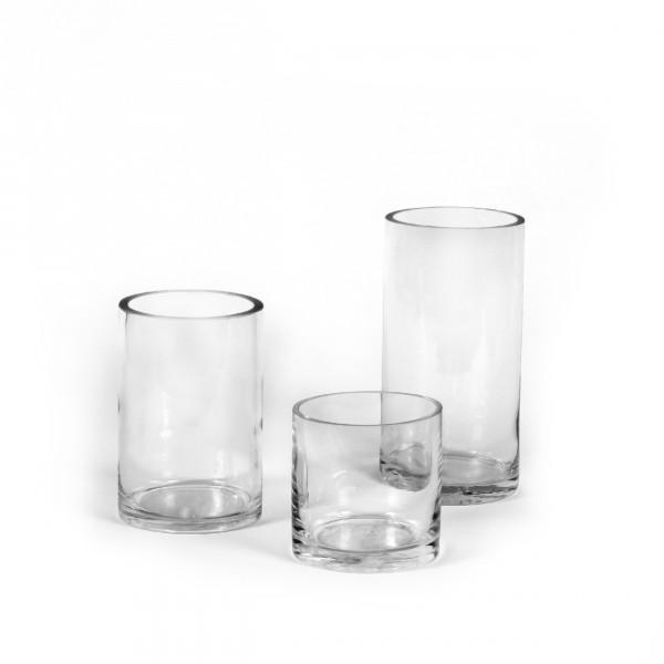 Zylinder Glasvase D10 cm