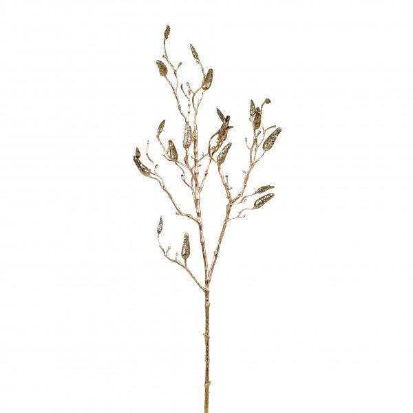 Magnolienknospen-Zweig, 86 cm, gold