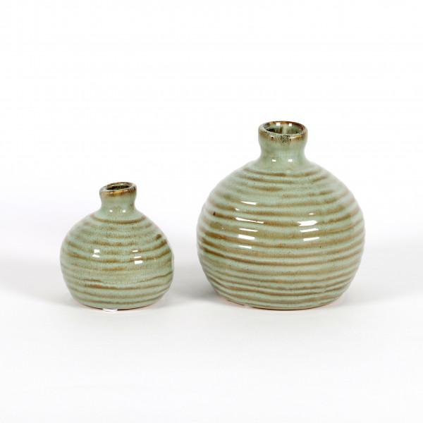 Keramik Mini-Vase Samos, kugelig