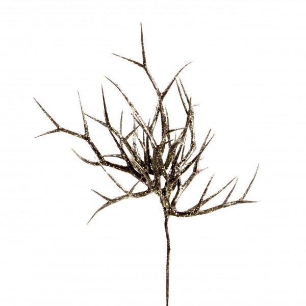 Geweihpick, 23 cm, champagner- glitter
