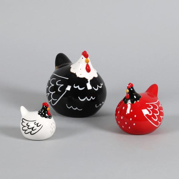 Keramik Huhn Lotta sitzend