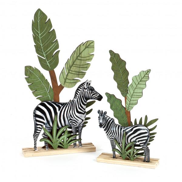 Deko-Szene Zebra Holz bedruckt