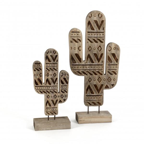 Kaktus Azteca Holz,grau