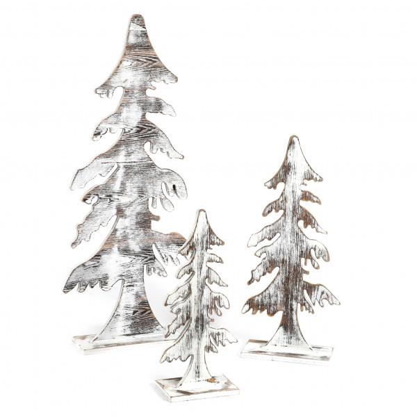 Holz Deko-Baum, antik-white washed