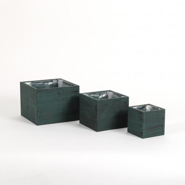 Holzkasten quadratisch