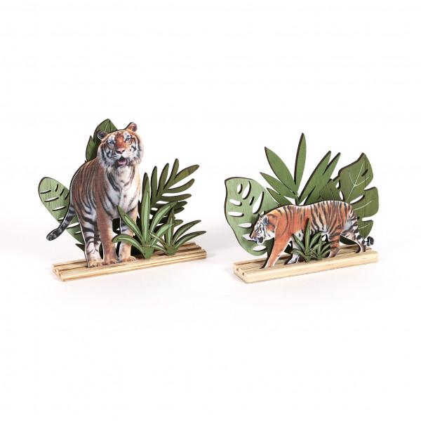 Deko-Szene Tiger Holz bedruckt